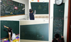 Top Quality Green Removable Chalkboard Sticker With Dustless Chalk