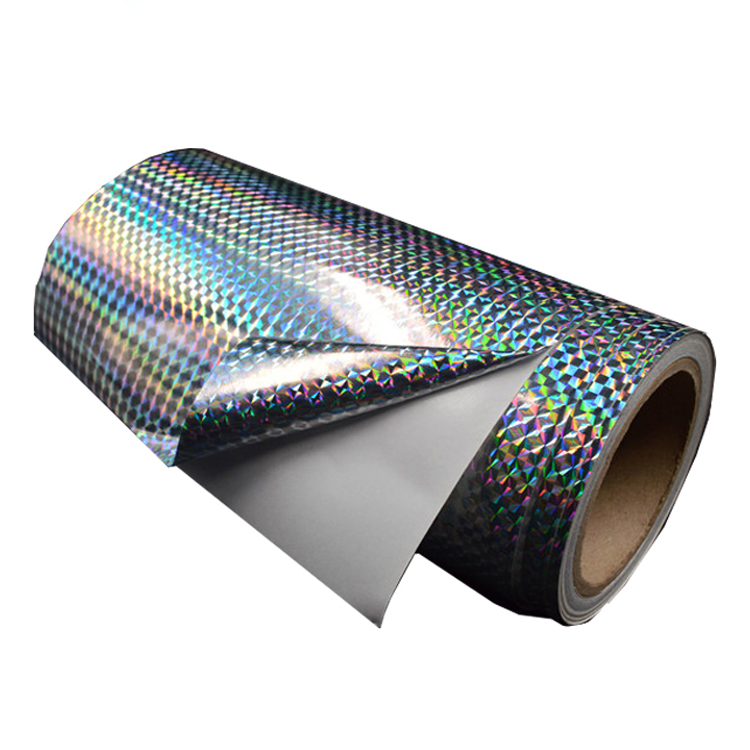 PP / PET / PVC Self Adhesive Holographic Film In Roll Or Sheet